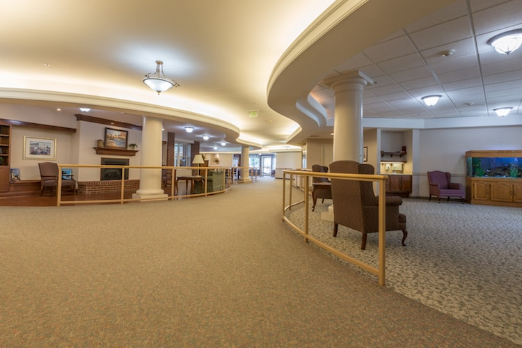 The interior of the peabody living facility