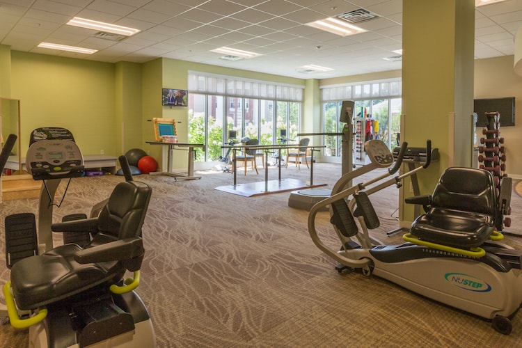 Peabody gym. There is equipment to stay fit