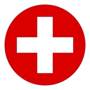 In case of emergency cross logo