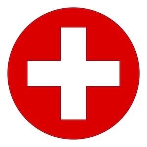 In case of emergency cross logo