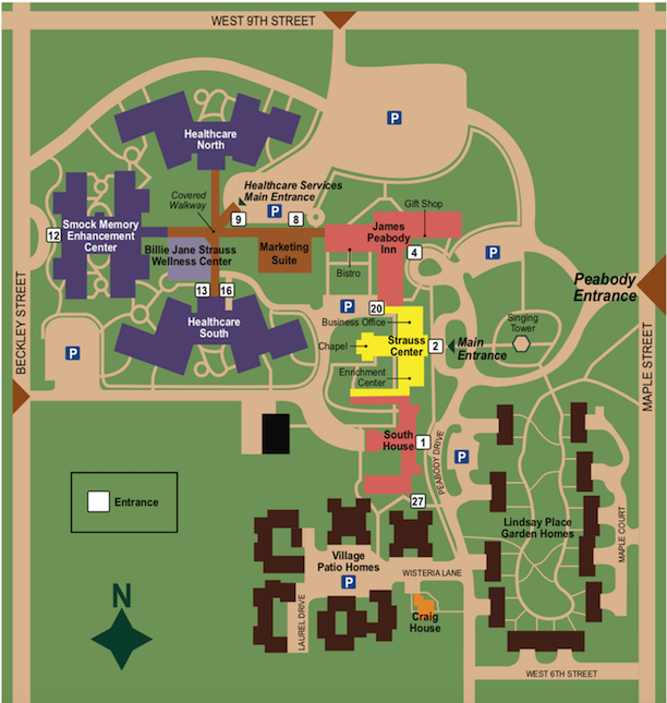 Peabody Retirement Community Campus Map