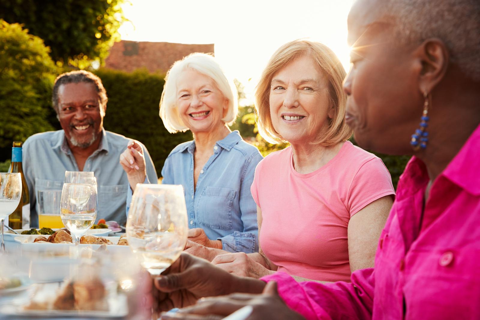 Group of seniors enjoying a social activity
